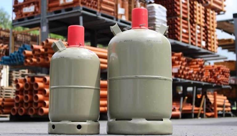 Heizstrahler-Gasflaschen