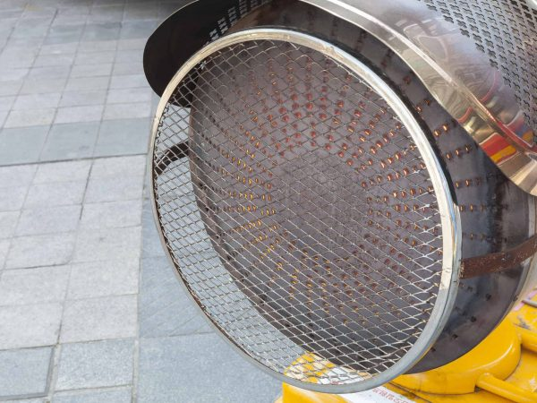 Outdoor gas heater blower.