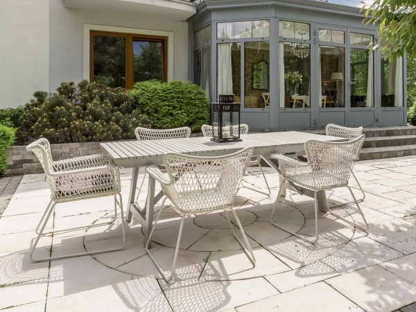 New design villa with patio and beautiful outdoor furniture set