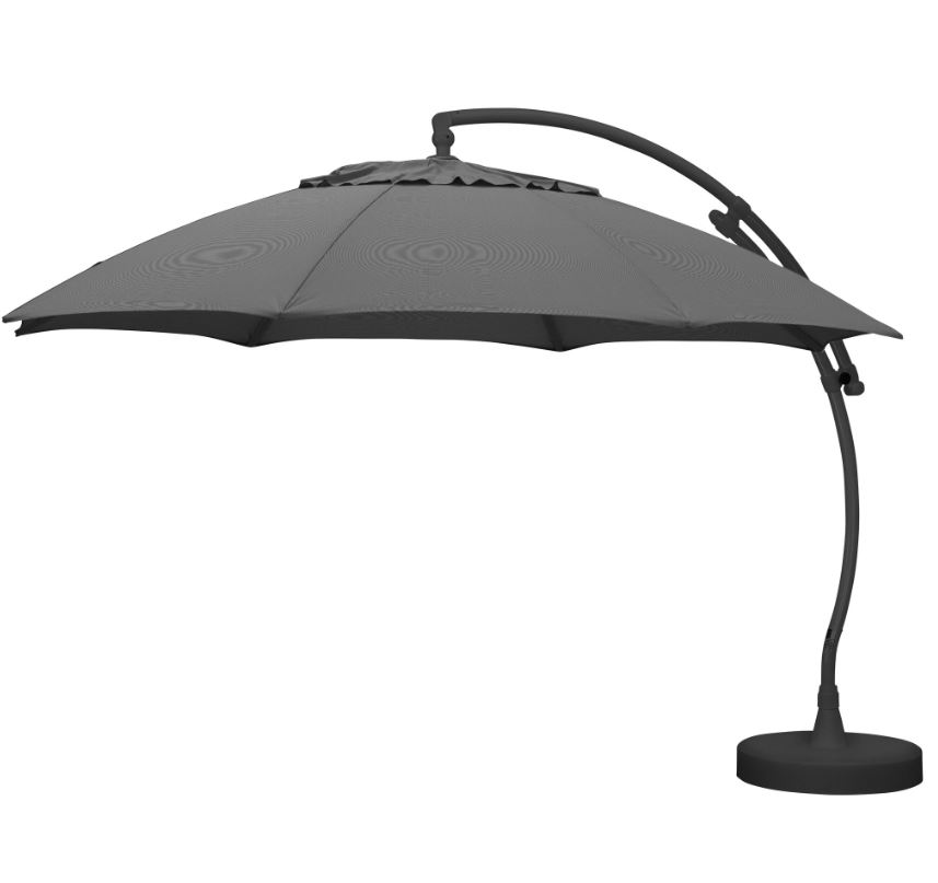Ampelschirm, Ø: 375 cm, Sonnenschutzfaktor: 50+