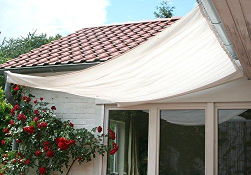 Floracord Sonnensegel Bausatz Universal 330x200 mit Sonnnensegel 330 x 200 cm uni hell elfenbein, beige, 04-77-03-28P