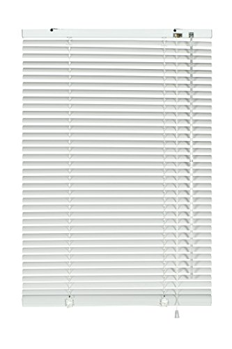 Gardinia 7746 Alu-Jalousie, Sicht-, Licht- und Blendschutz, Wand- und Deckenmontage, Alle Montage-Teile inklusive, Aluminium-Jalousie, Weiß, 60 x 130 cm (BxH)